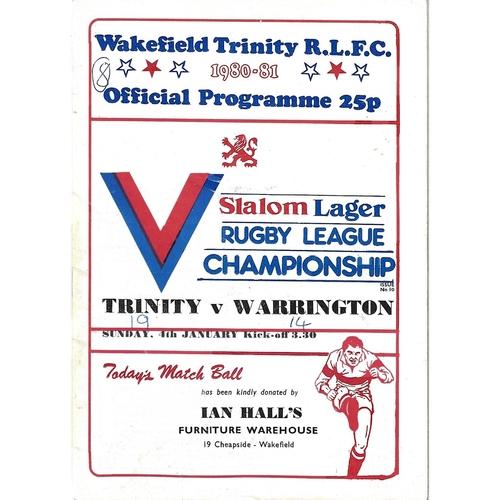 Warrington Away Rugby League Programmes