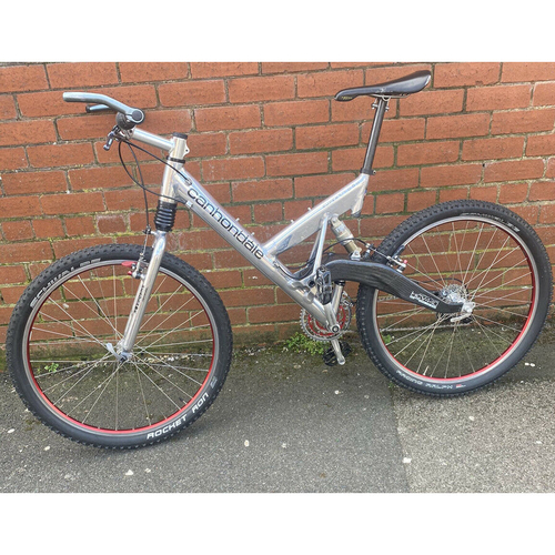 Cannondale Super V1000 Rare Ali/Carbon Edition Full Suspension Mountain Bike.