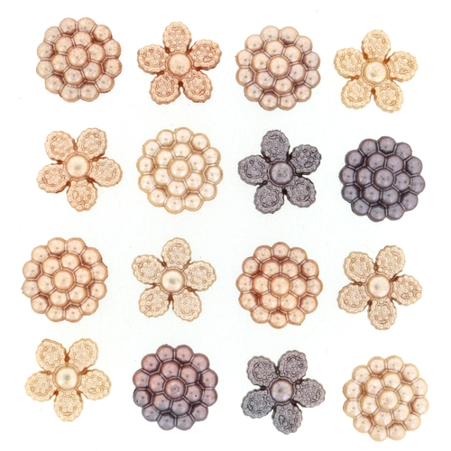 Dress It Up Buttons Vintage Pearls