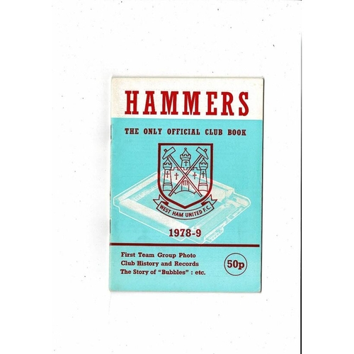 West Ham United Official Football Handbook 1978/79