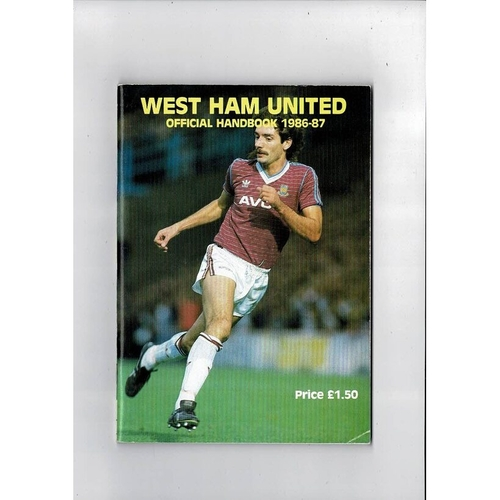 West Ham United Official Football Handbook 1986/87