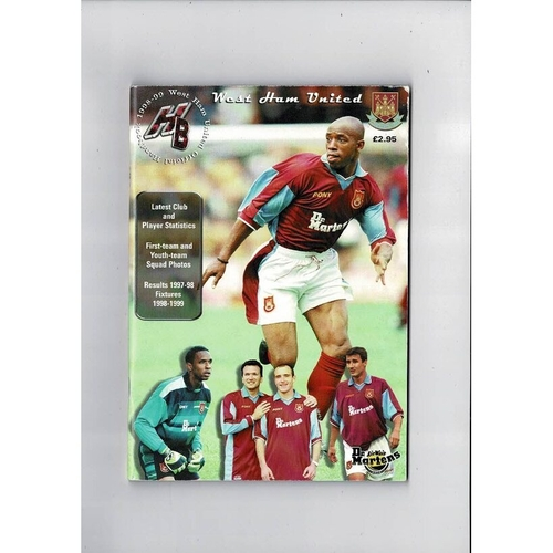West Ham United Official Football Handbook 1998/99