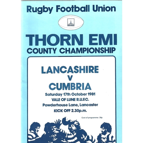 County Championship Rugby Union Programmes