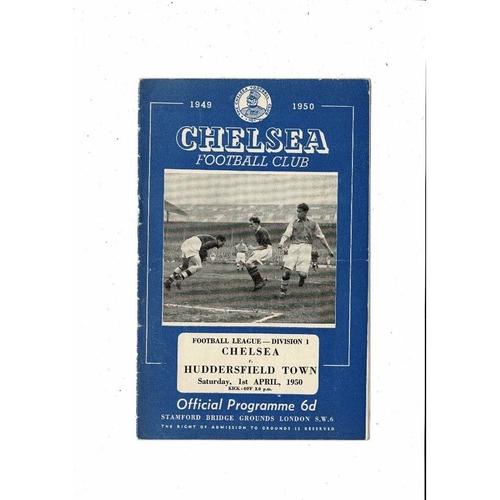1949/50 Chelsea v Huddersfield Town Football Programme