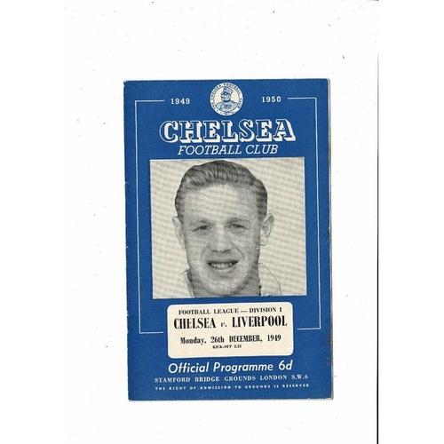 1949/50 Chelsea v Liverpool Football Programme