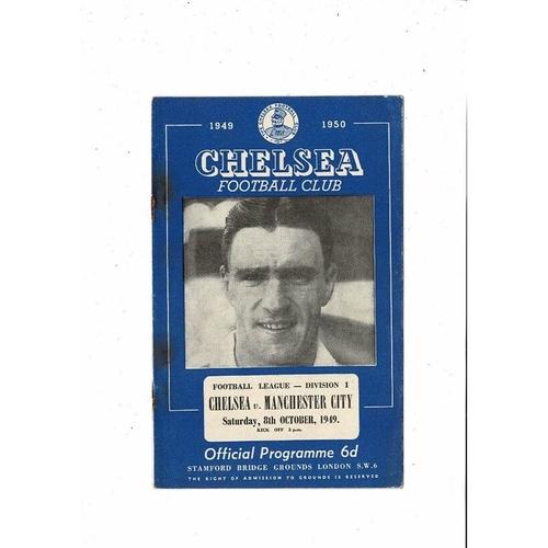1949/50 Chelsea v Manchester City Football Programme