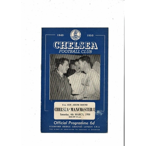 1949/50 Chelsea v Manchester United FA Cup Football Programme