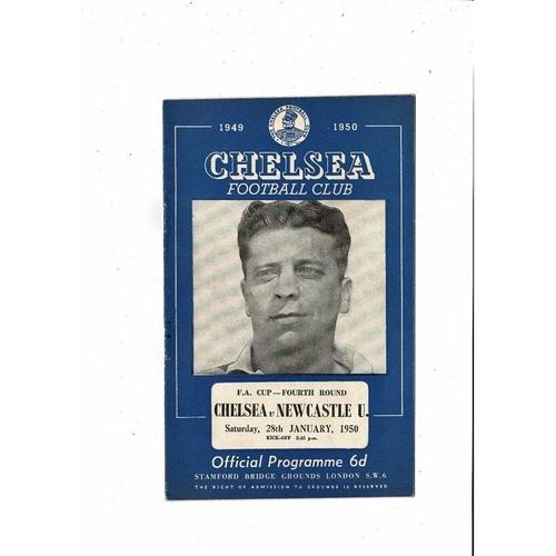 1949/50 Chelsea v Newcastle United FA Cup Football Programme