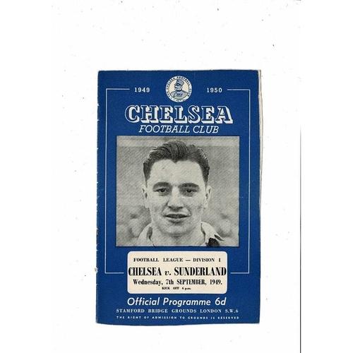 1949/50 Chelsea v Sunderland Football Programme