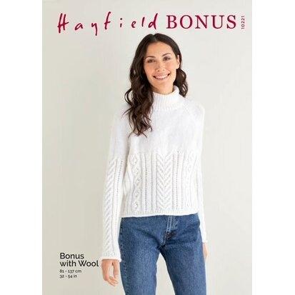 Hayfield Aran Bonus with Wool 10221