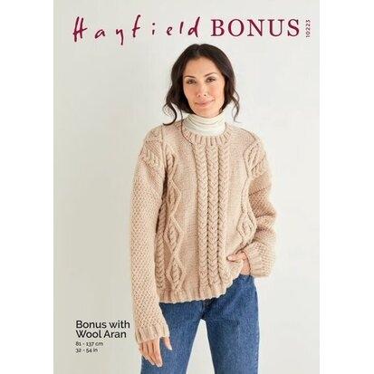 Hayfield Aran Bonus with Wool 10223