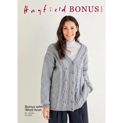 Hayfield Aran Bonus with Wool 10224