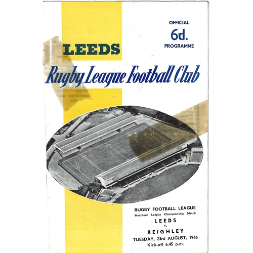 1966/67 Leeds v Keighley Rugby League programme