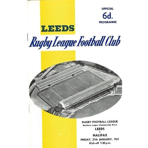 1966/67 Leeds v Halifax Rugby League programme