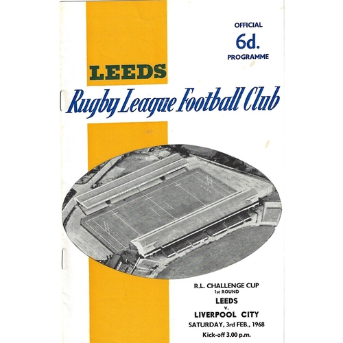 Liverpool City Away Rugby League Programmes