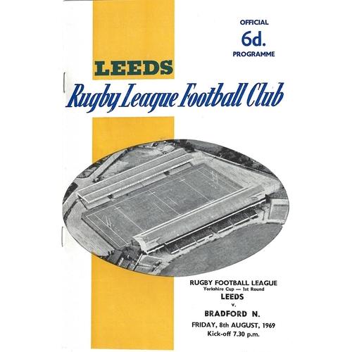 Bradford Northern/Bulls Away Rugby League Programmes