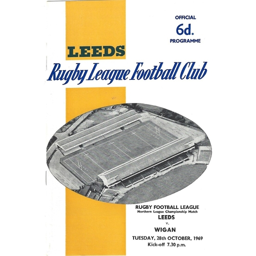 Wigan Away Rugby League Programmes