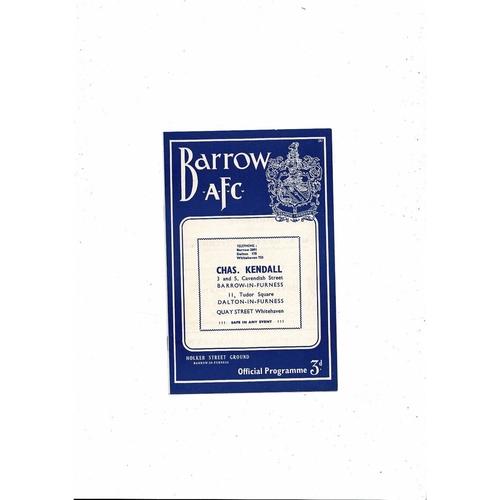 1957/58 Barrow v Halifax Town Football Programme