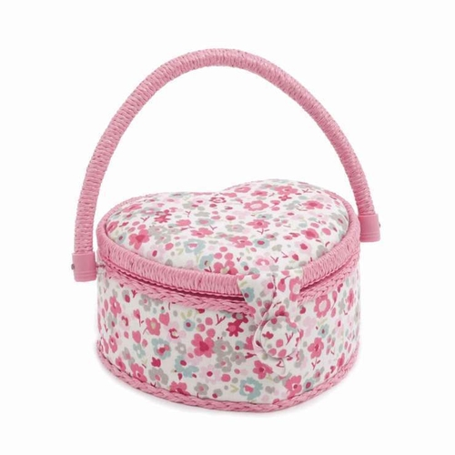 Hobby Gift Sewing Box Heart Pink Raspberry Confetti
