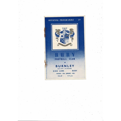 Bury Home Football Programmes