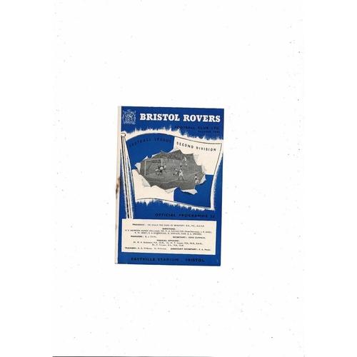 1954/55 Bristol Rovers v Stoke City Football Programme