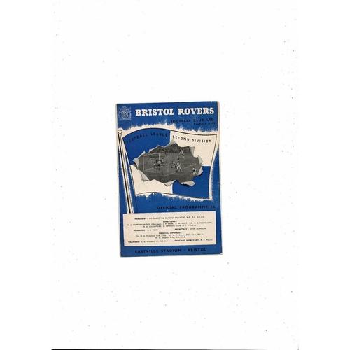 1955/56 Bristol Rovers v Stoke City Football Programme