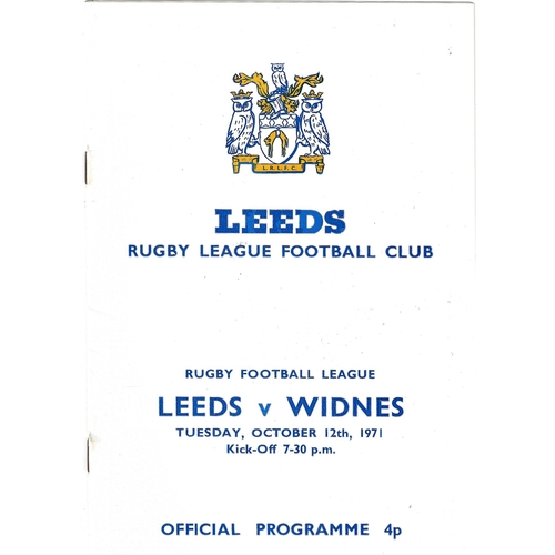 Widnes/Widnes Vikings Away Rugby League Programmes