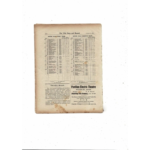 1913/14 Aston Villa v Stoke City FA Cup Football Programme