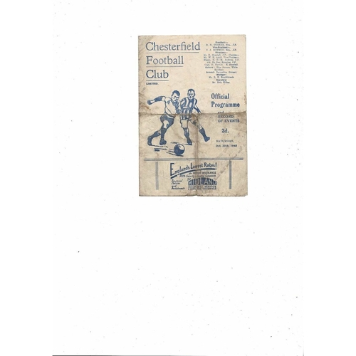 1945/46 Chesterfield v Middlesbrough Football Programme