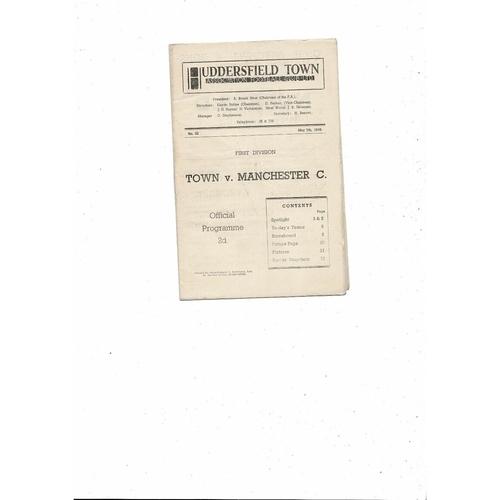 1946/47 Huddersfield Town v Middlesbrough Football Programme