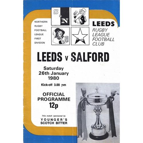 1979/80 Leeds v Salford Rugby League programme