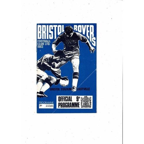 1967/68 Bristol Rovers v Gillingham Football Programme