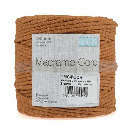 4mm Ochre Cord