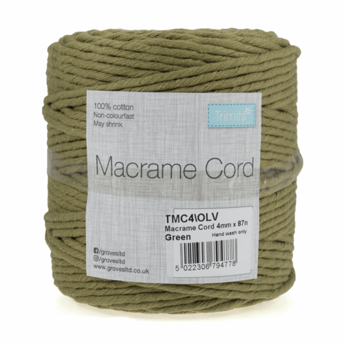 4mm Olive Cord