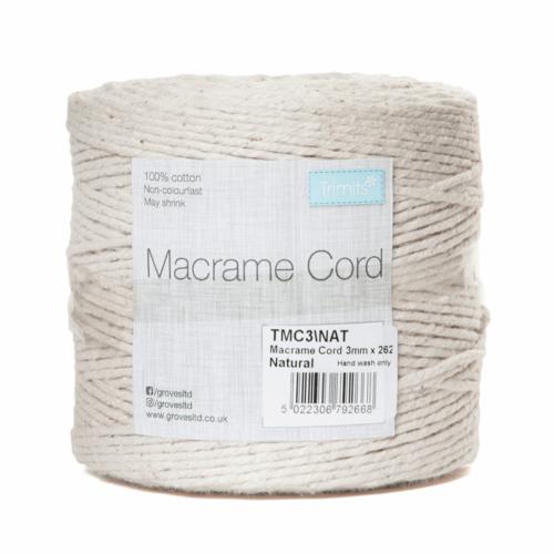 3mm Natural Cord