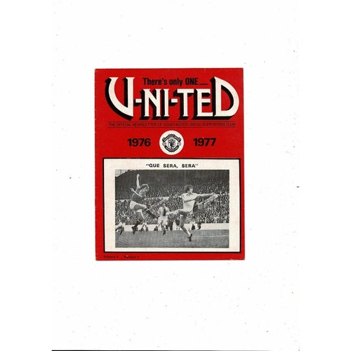Manchester United There's only one United Official Newsletter Vol 8 No 4 1976/77