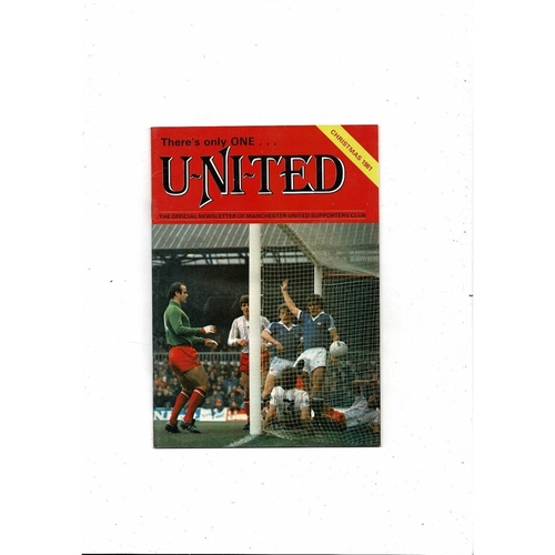 Manchester United There's only one United Official Newsletter Christmas 1981