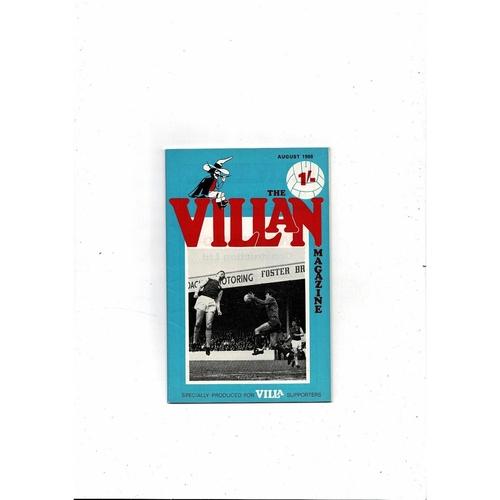 Aston Villa - Supporters Association The Villan August 1968