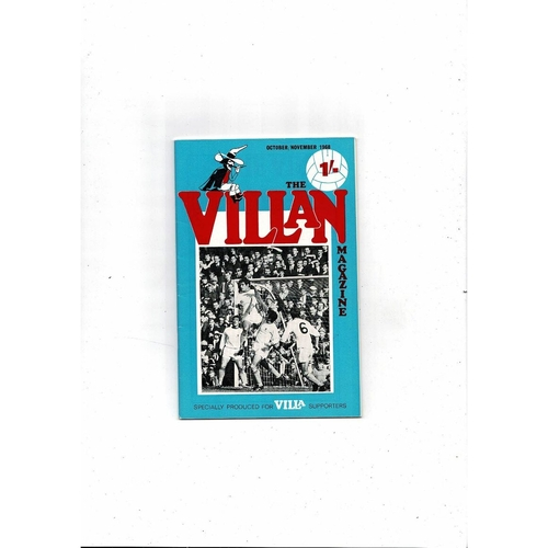 Aston Villa - Supporters Association The Villan Oct / Nov 1968