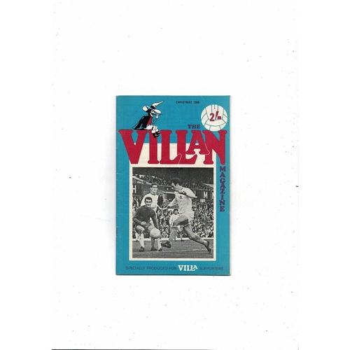 Aston Villa - Supporters Association The Villan Christmas 1968