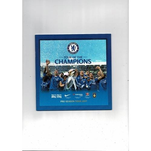 Chelsea Pre Season Football Tour Booklet 2017