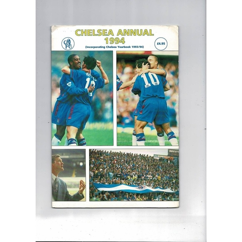 Chelsea Official Annual Incorporating Yearbook 1993/94 in Folder