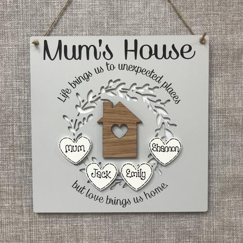 ' Mums House ' plaque