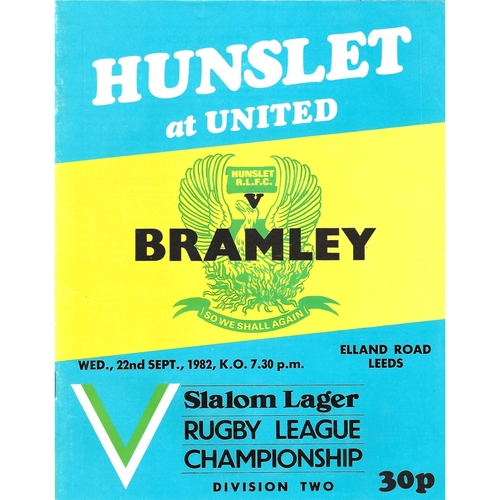 Bramley Away Rugby League Programmes
