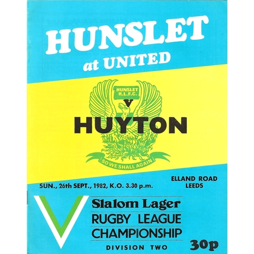 Huyton Away Rugby League Programmes