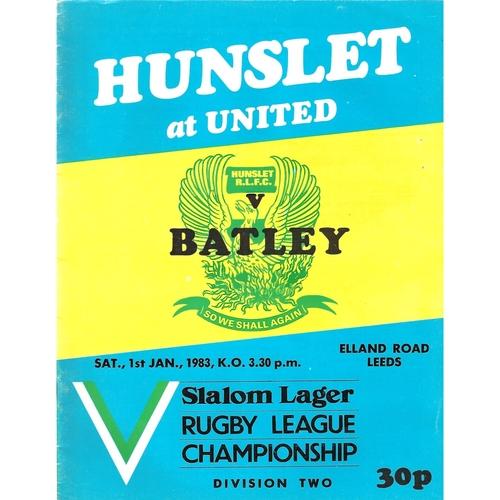 1982/83 Hunslet v Batley Rugby League programme