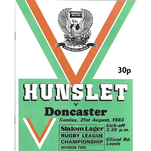 Doncaster Away Rugby League Programmes