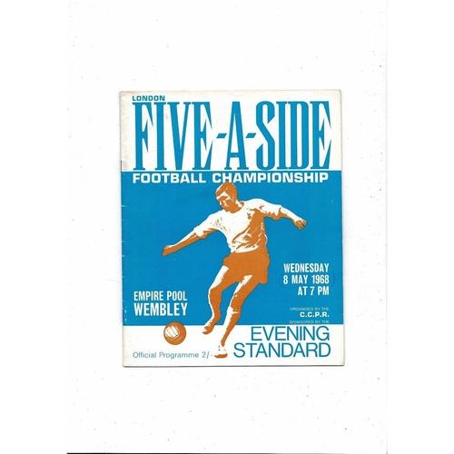 1968 London Five a side Football Programme