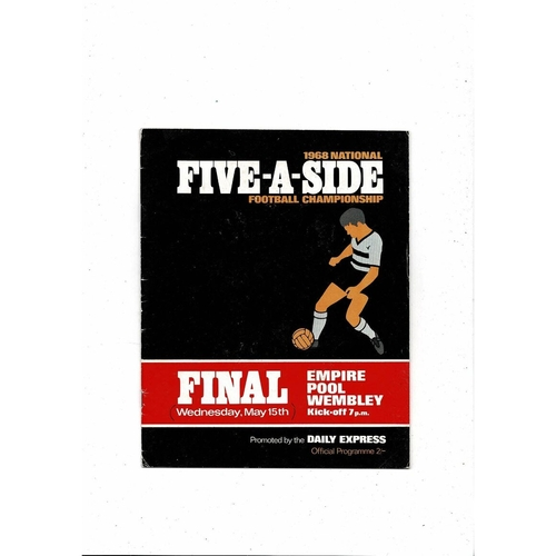 Five A Side Football Programmes