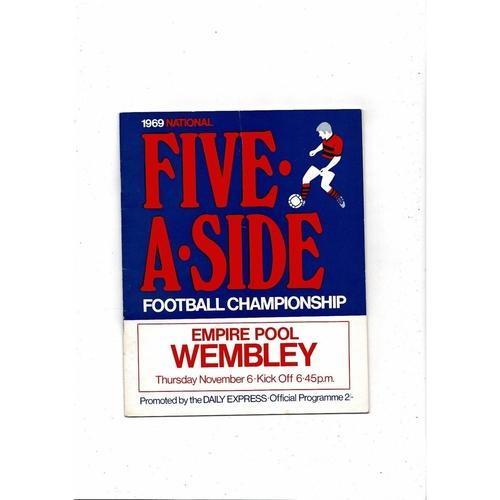 1969 National Five a side Football Programme